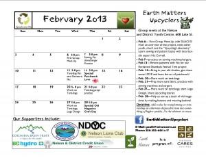 February 2013 Calender UPDATED